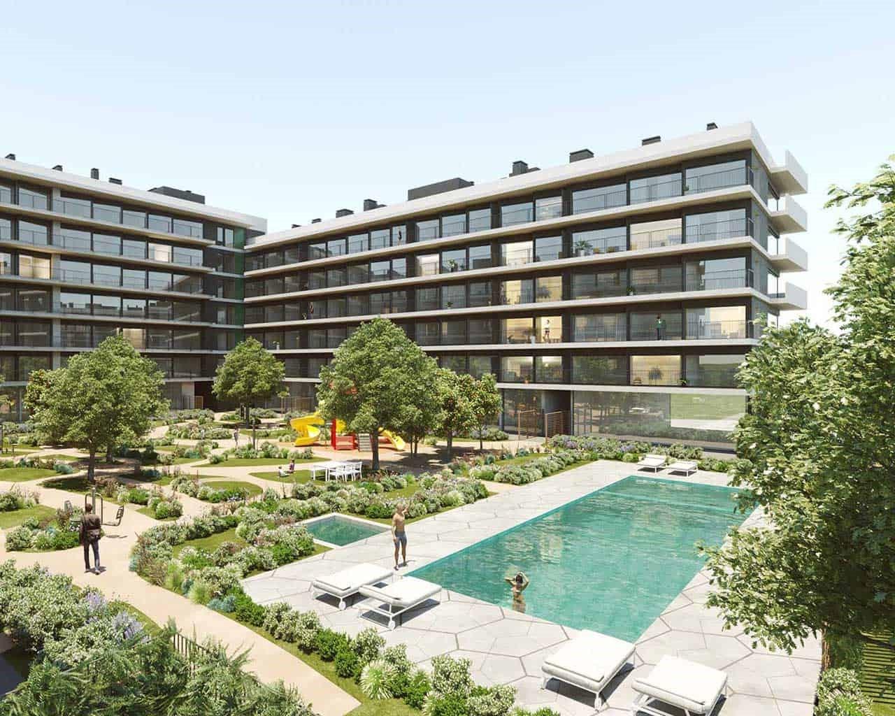 Lux Garden Faro - jardin - piscine