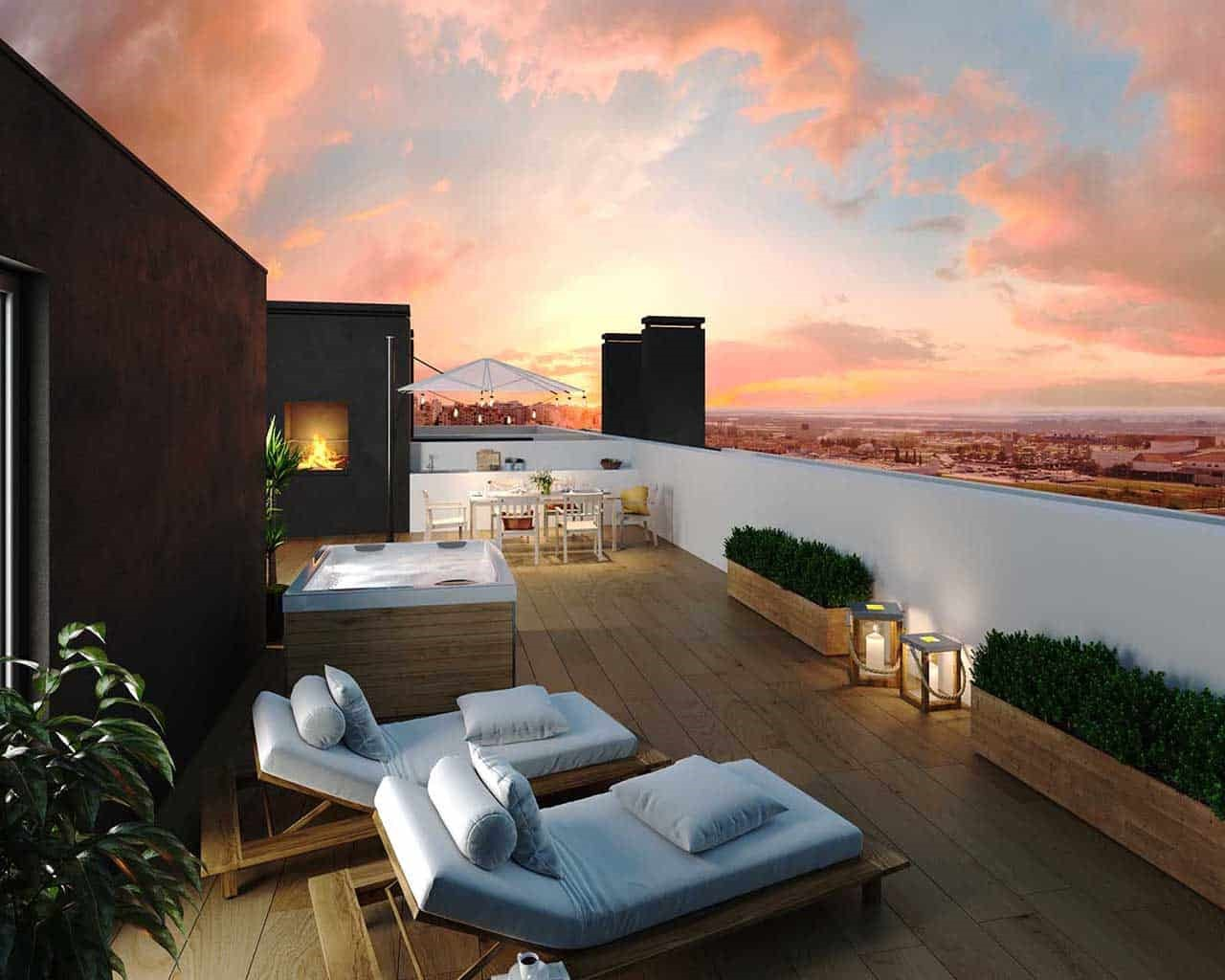 Lux Garden-terrace-appartement-penthouse