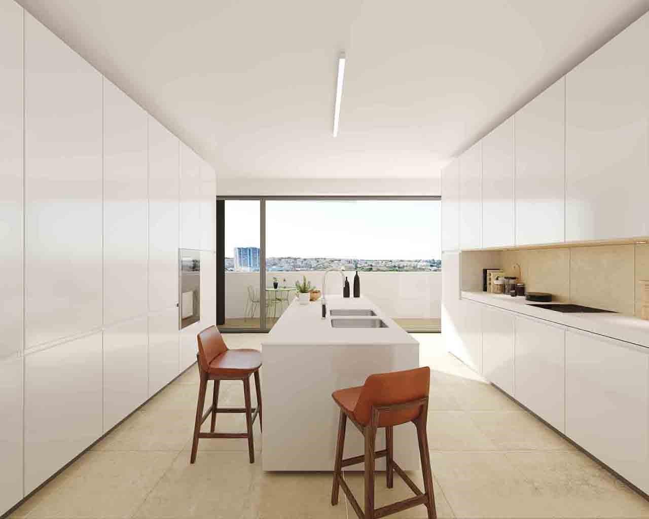 Lux Garden-Cozinha-opção-Praia