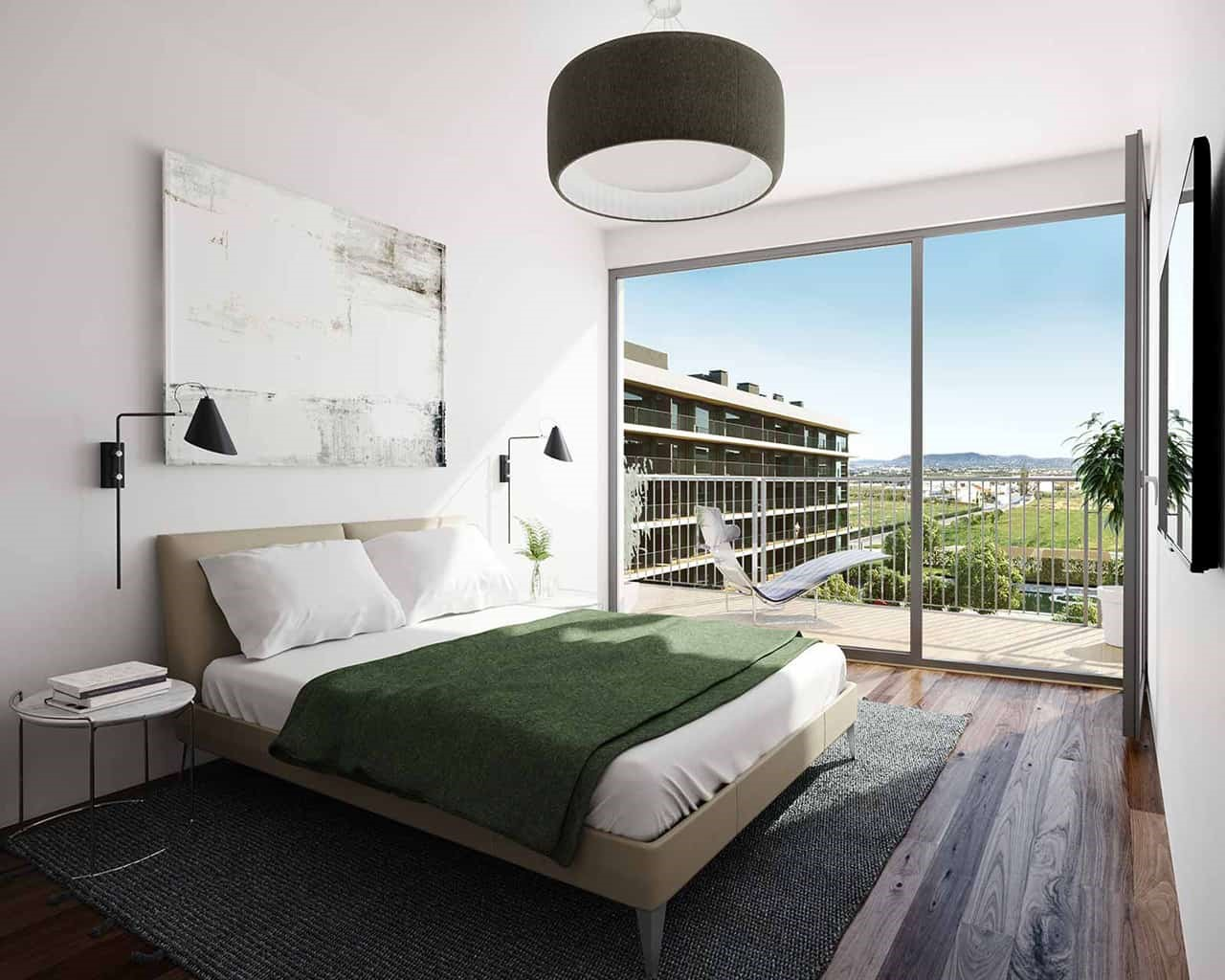 Lux Garden-quarto-opção-nogueira
