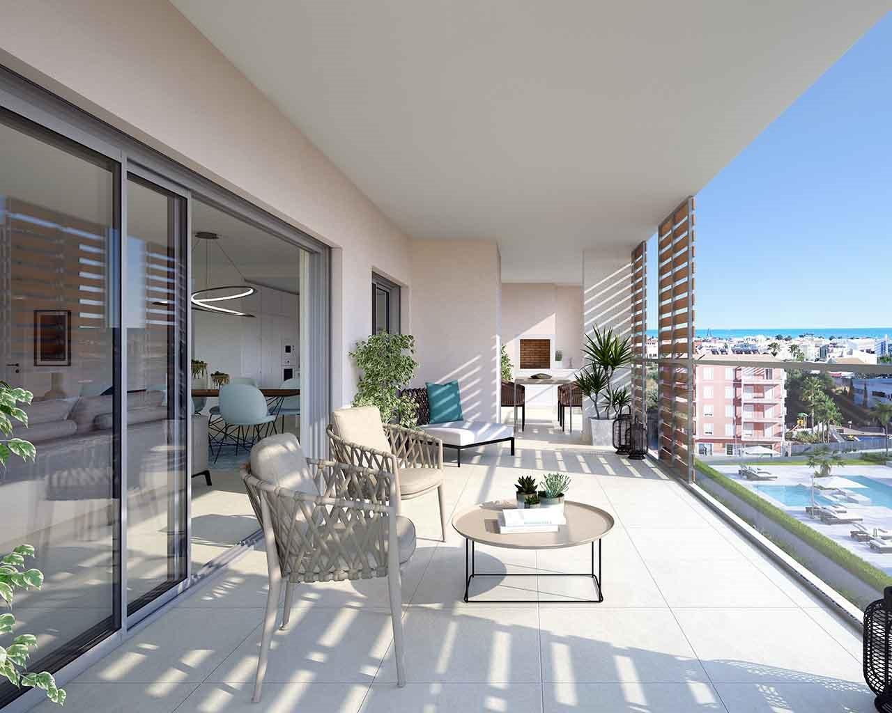 Albufeira-Green-Residences-Sala T4 Varanda