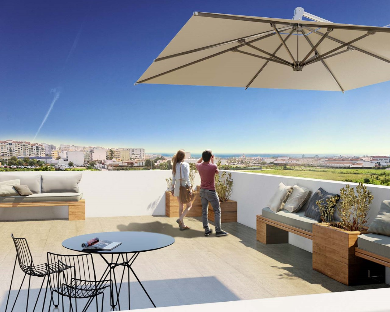 Top floor terrace
