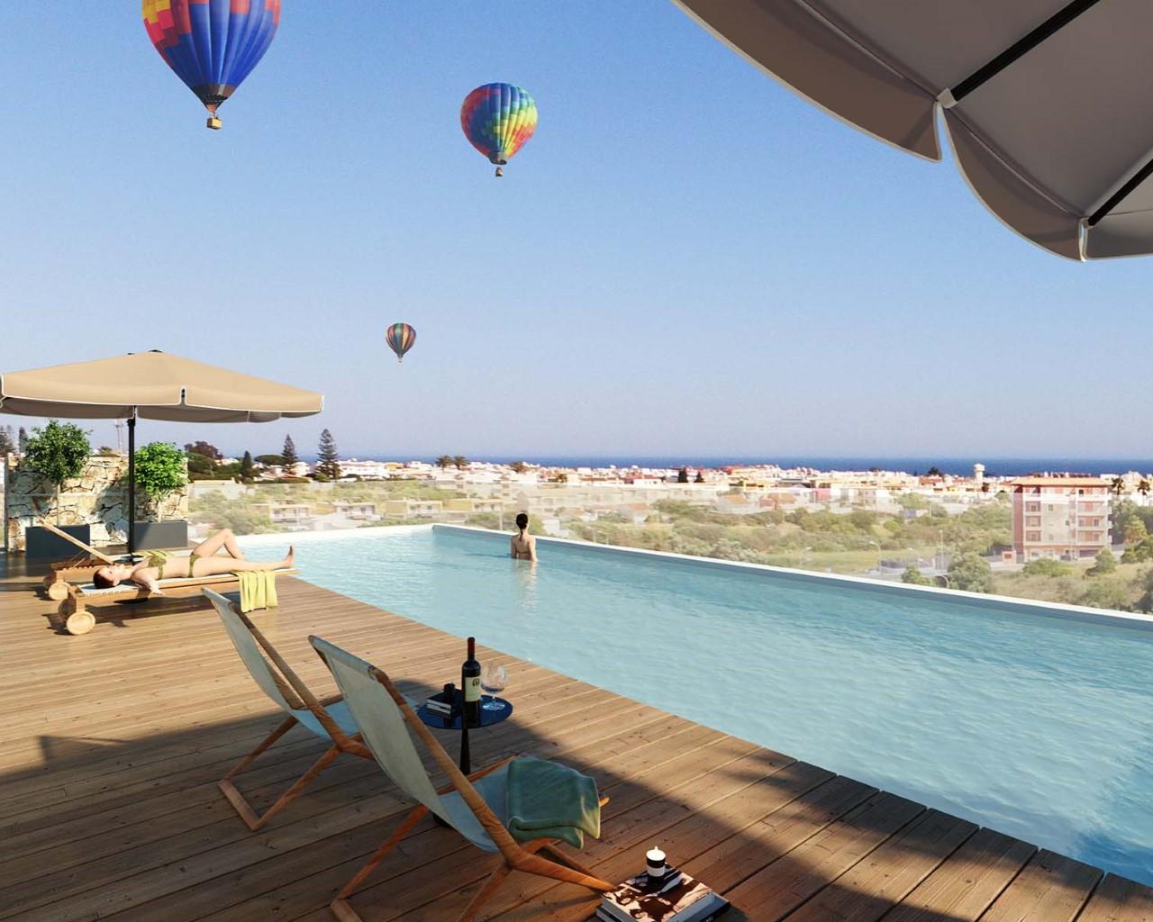 Toit terrasse avec piscine