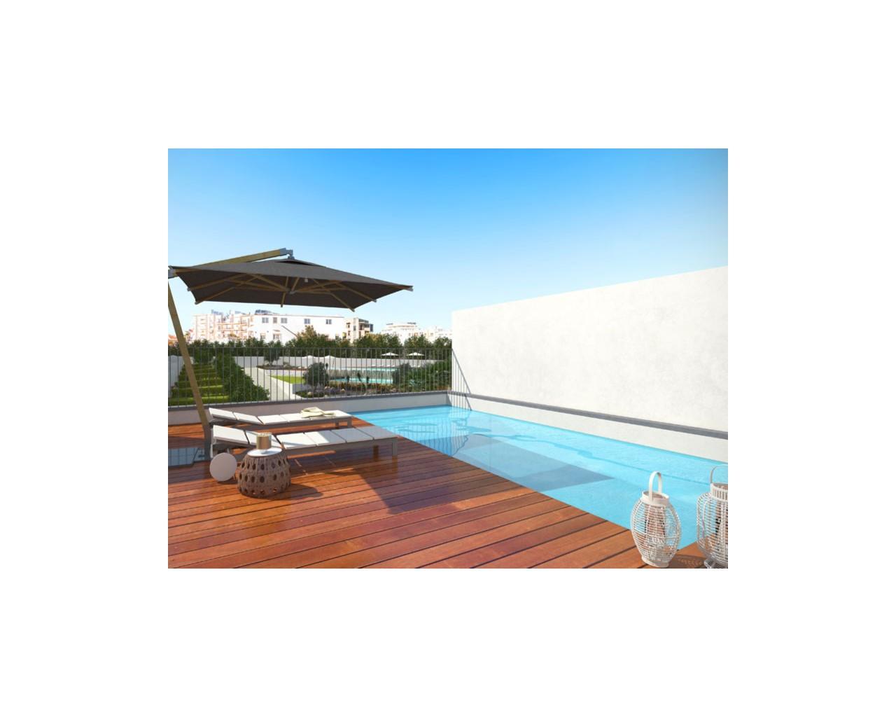 Piscine priv\u00e9e sur le toit-Albufeira Green Villas