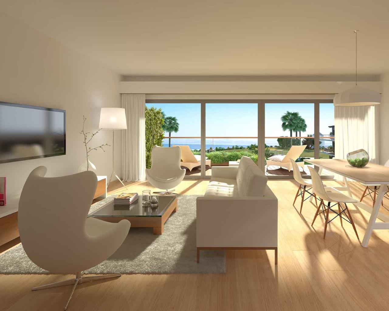 Salle et terrasse Praia