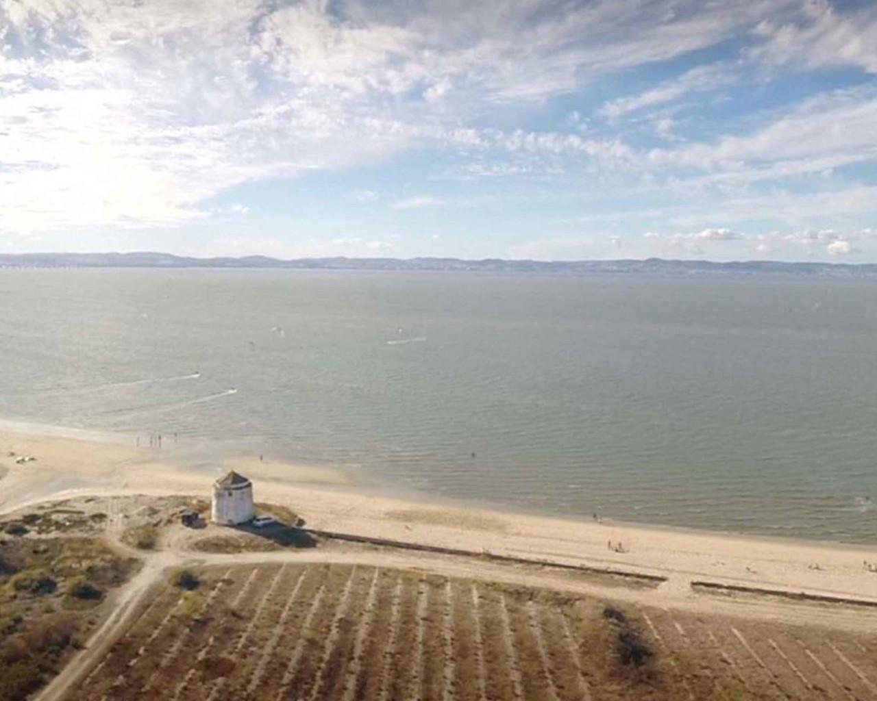 Praia dos Moinhos Alcochete - plage des moulins