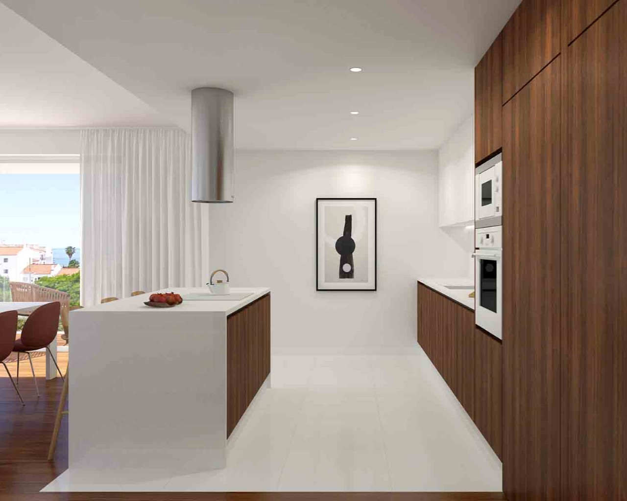 Albufeira Prime - Kitchen - Walnut