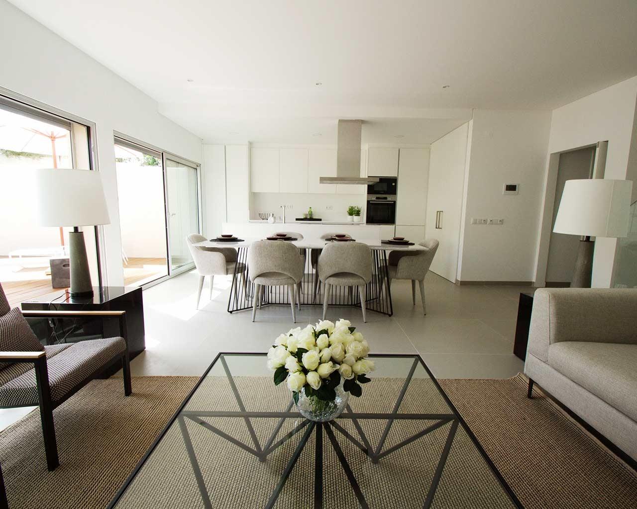 ferragudo-design-villas-sala de estar + cozinha