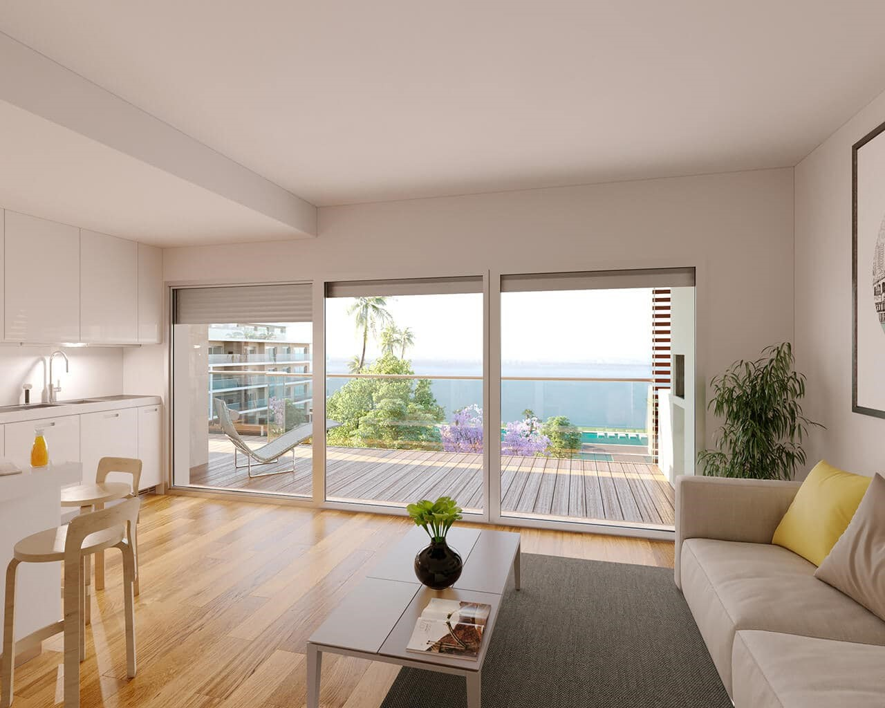 Tagus Bay - kitchen living room terrace