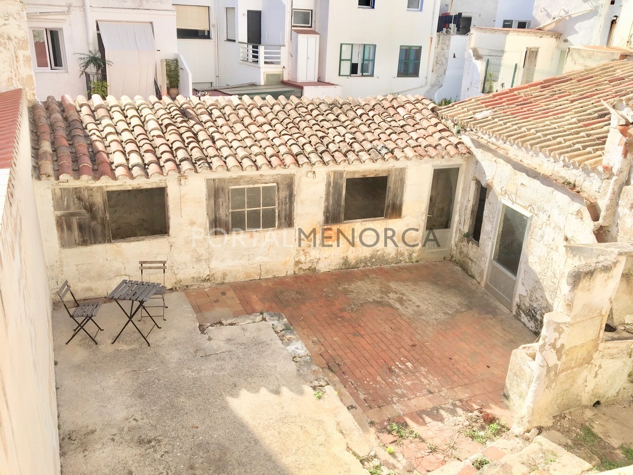 Patio and outbuilding from first floor