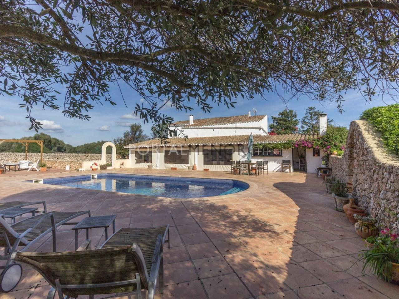 Casa de campo con piscina en venta en Mahon (21 de 24)