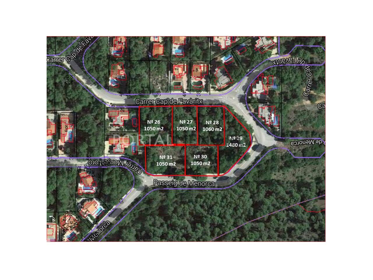 V2455 ubicación solares y superficies