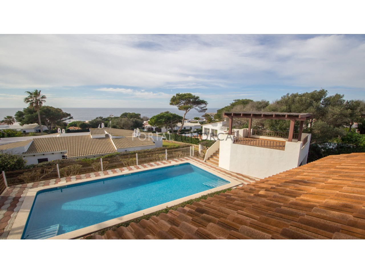 Villa with pool and sea view for sale in Menorca