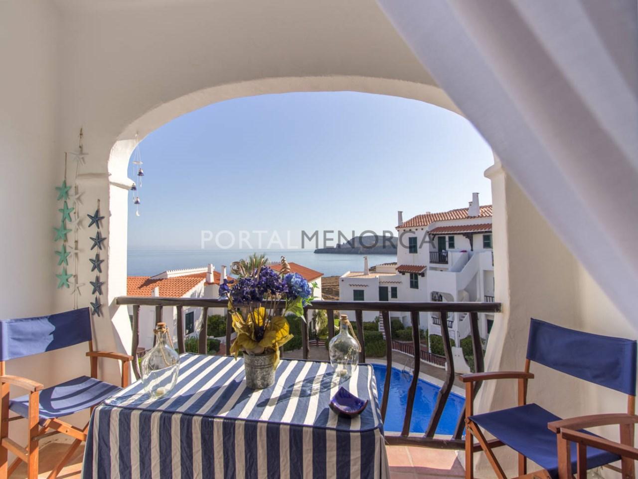 Apartamento con vistas al mar en venta en Menorca