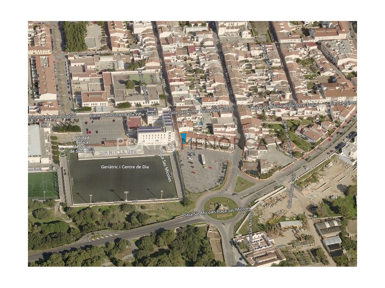 Plot of land for sale in the center Sant Lluís