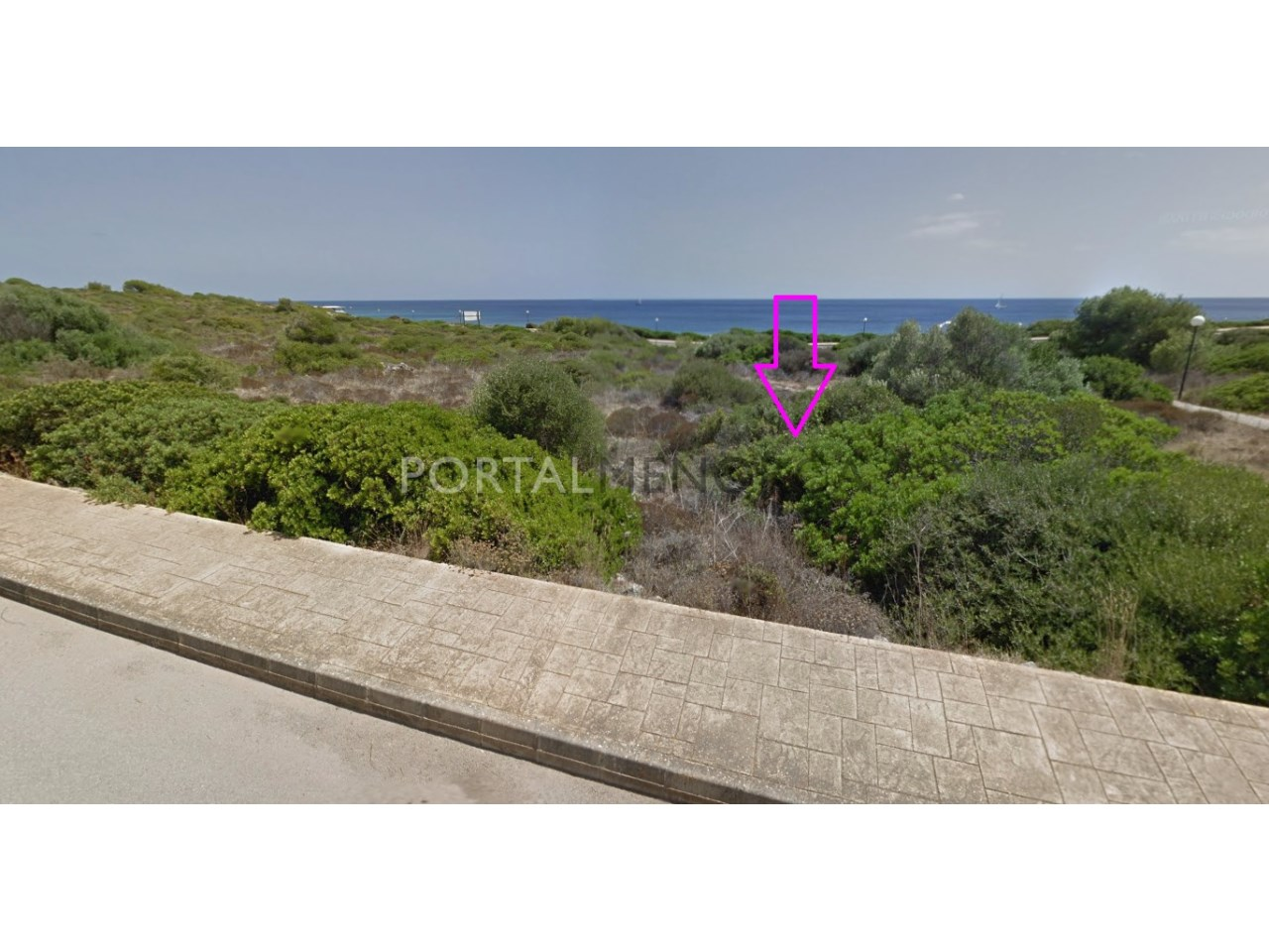 Building sea front plot of land for sale in Menorca