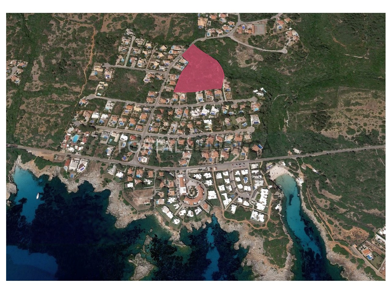 Set of 8 plots of land by the sea for sale in Menorca