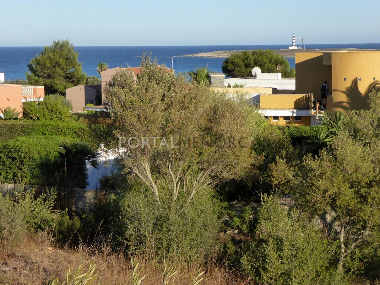 Parcela con vistas el mar en venta en Punta Prima