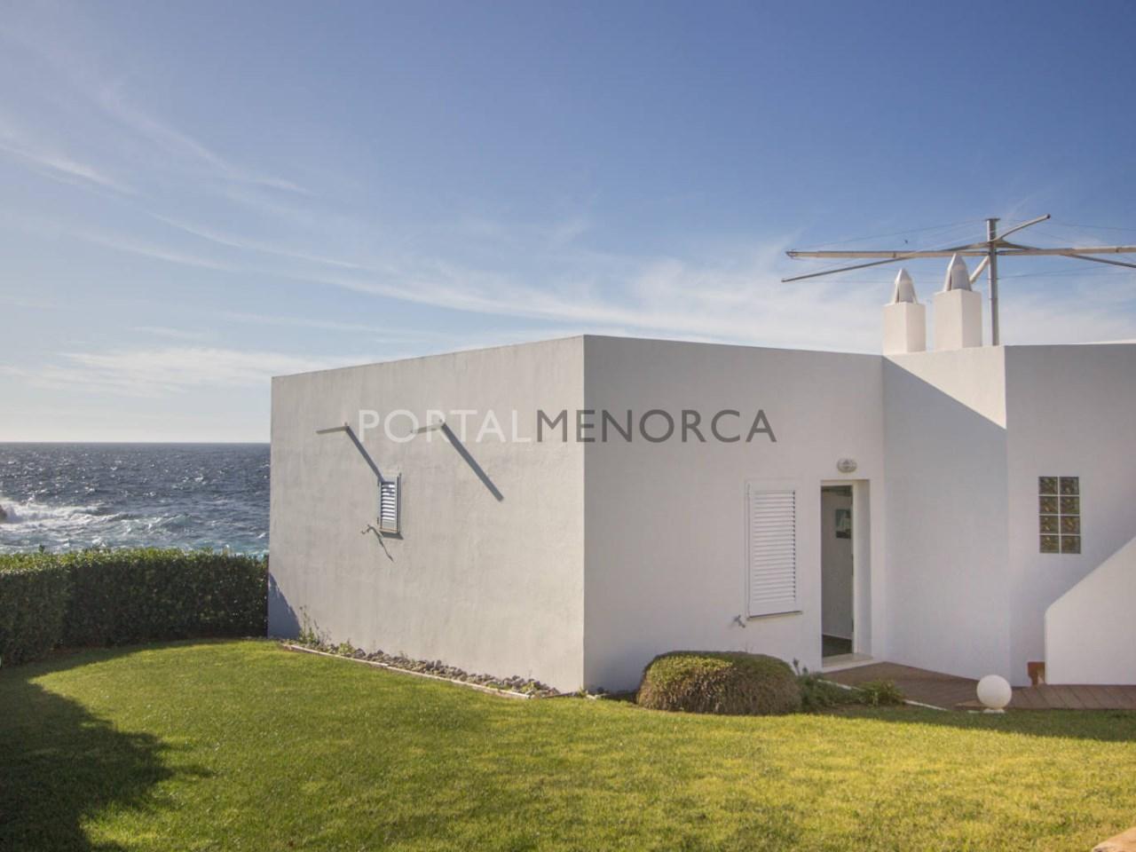 Frontline villa with sea view for sale in Binibeca