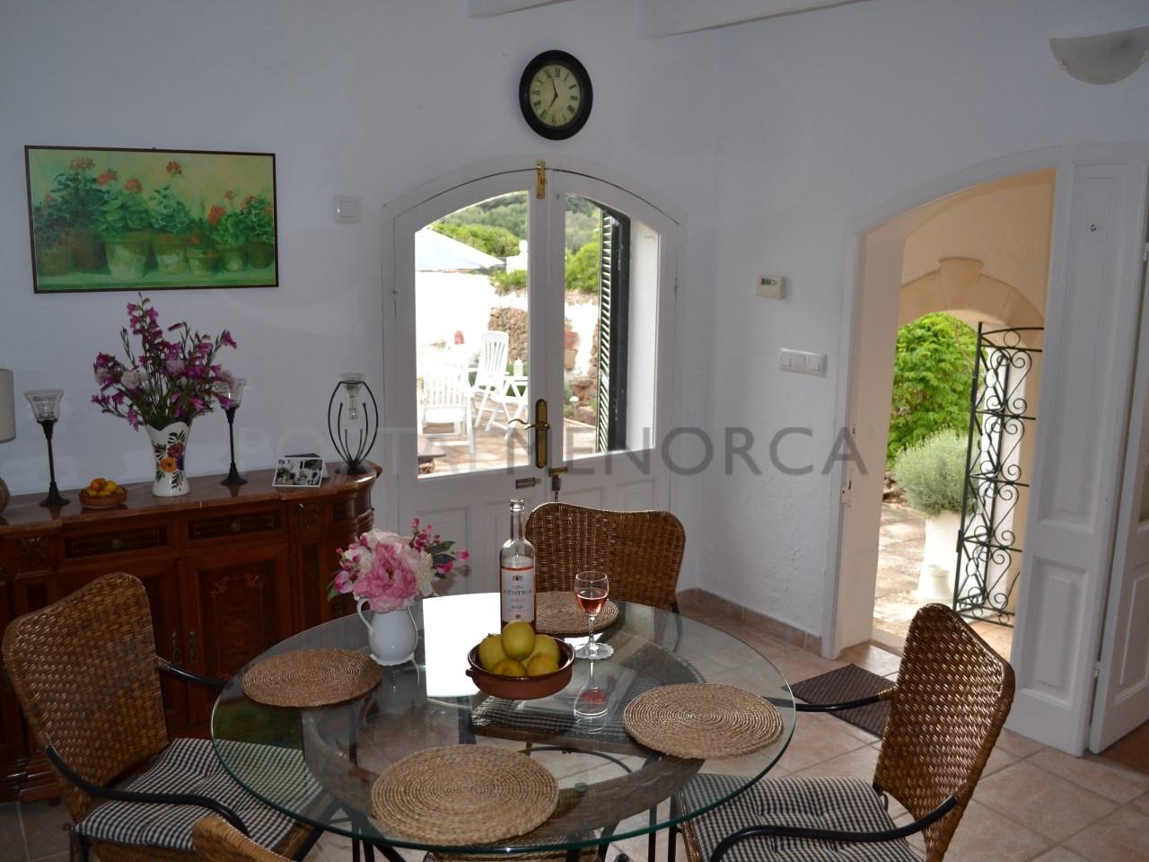 Las Ramblas dining area overlooking courtyard