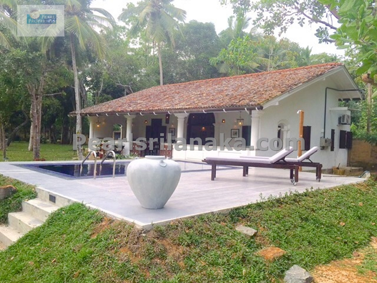 Lake Front Villa with Swimming Pool on 2 Acres( Sq m 8000) of Land