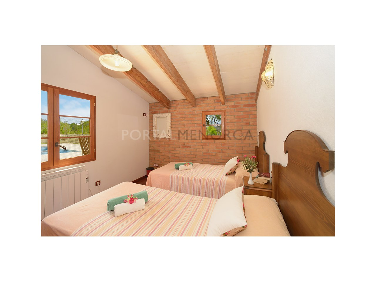 Countryhouse for sale in the Son Morell area- bedroom with views
