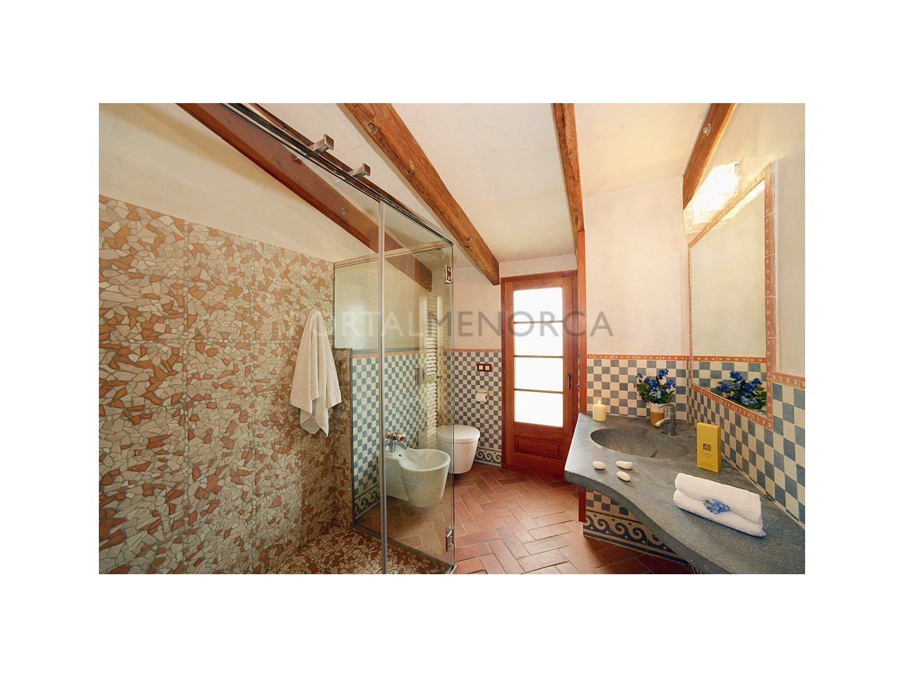 Countryhouse for sale in the Son Morell area-Bathroom
