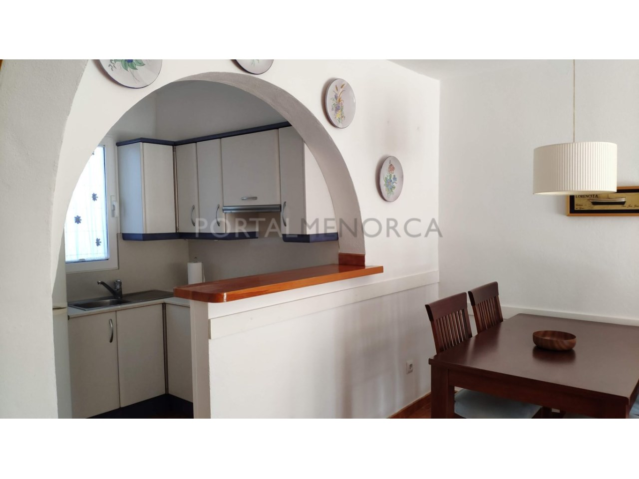 Townhouse for sale in Calan Blanes near the beach- Kitchen and dinning room