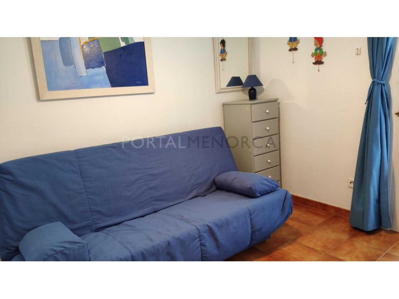 Townhouse for sale in Calan Blanes near the beach- Living room