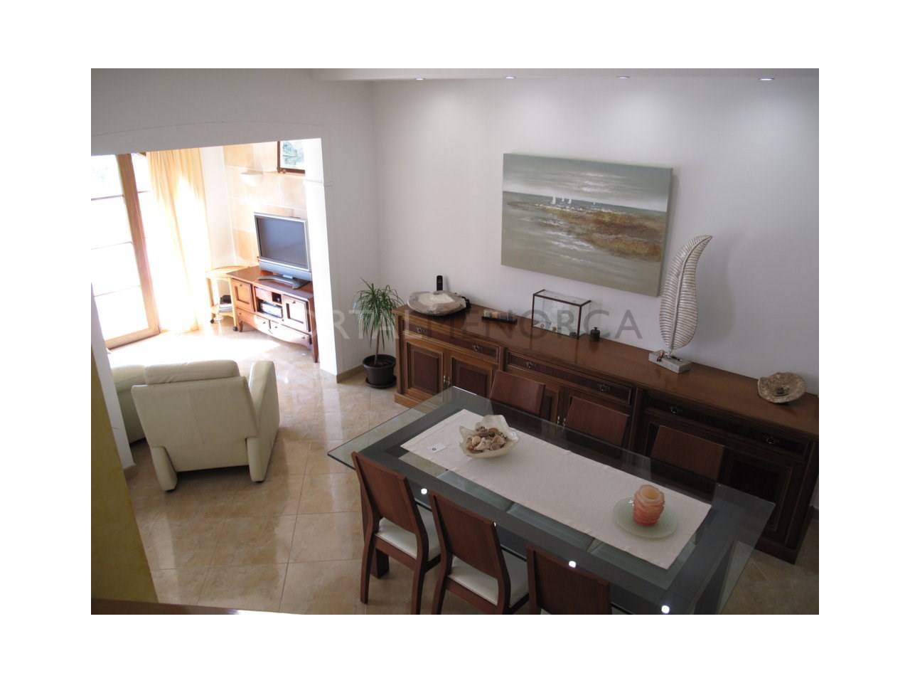 Charming villa with garage in Son Oleo for sale-Living room