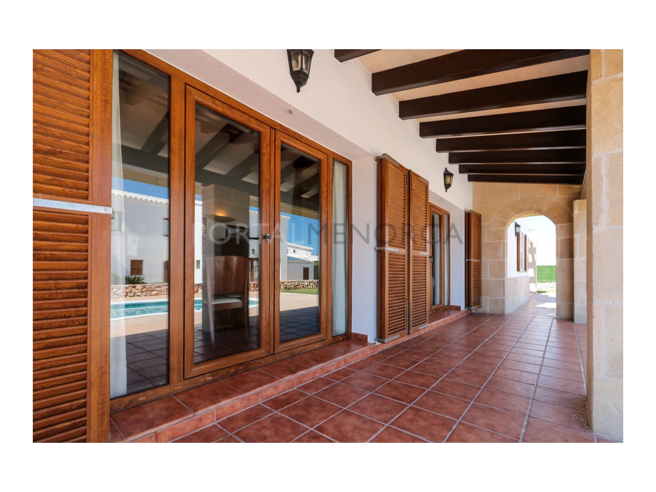 Villa for sale in Cala Morell with sea views and tourist license-Terrace
