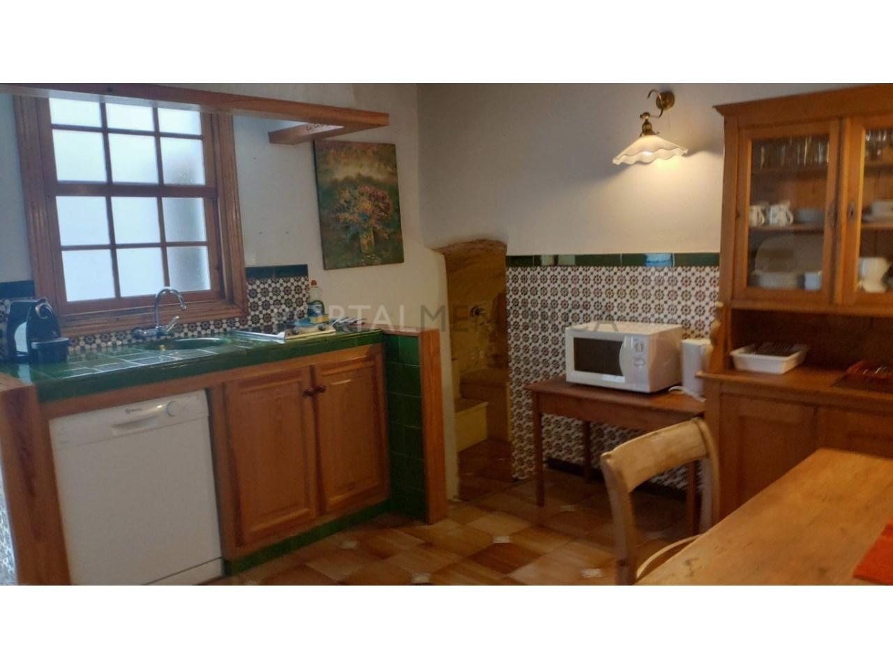 casa reformada en venta en Ciutadella de Menorca cocina