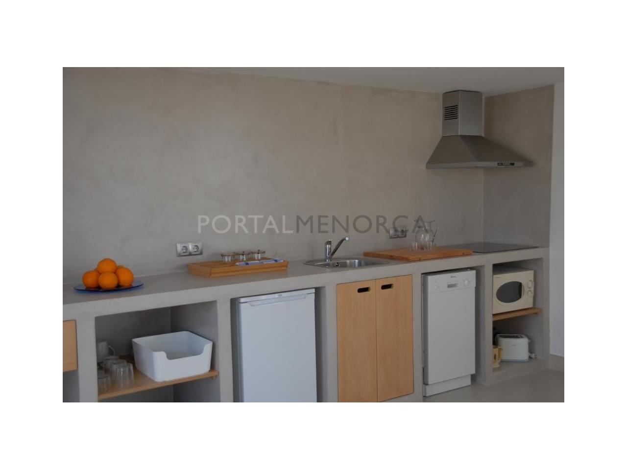 Modern apartment with sea views for sale in Cala Blanca Ciutadella Menorca-Kitchen