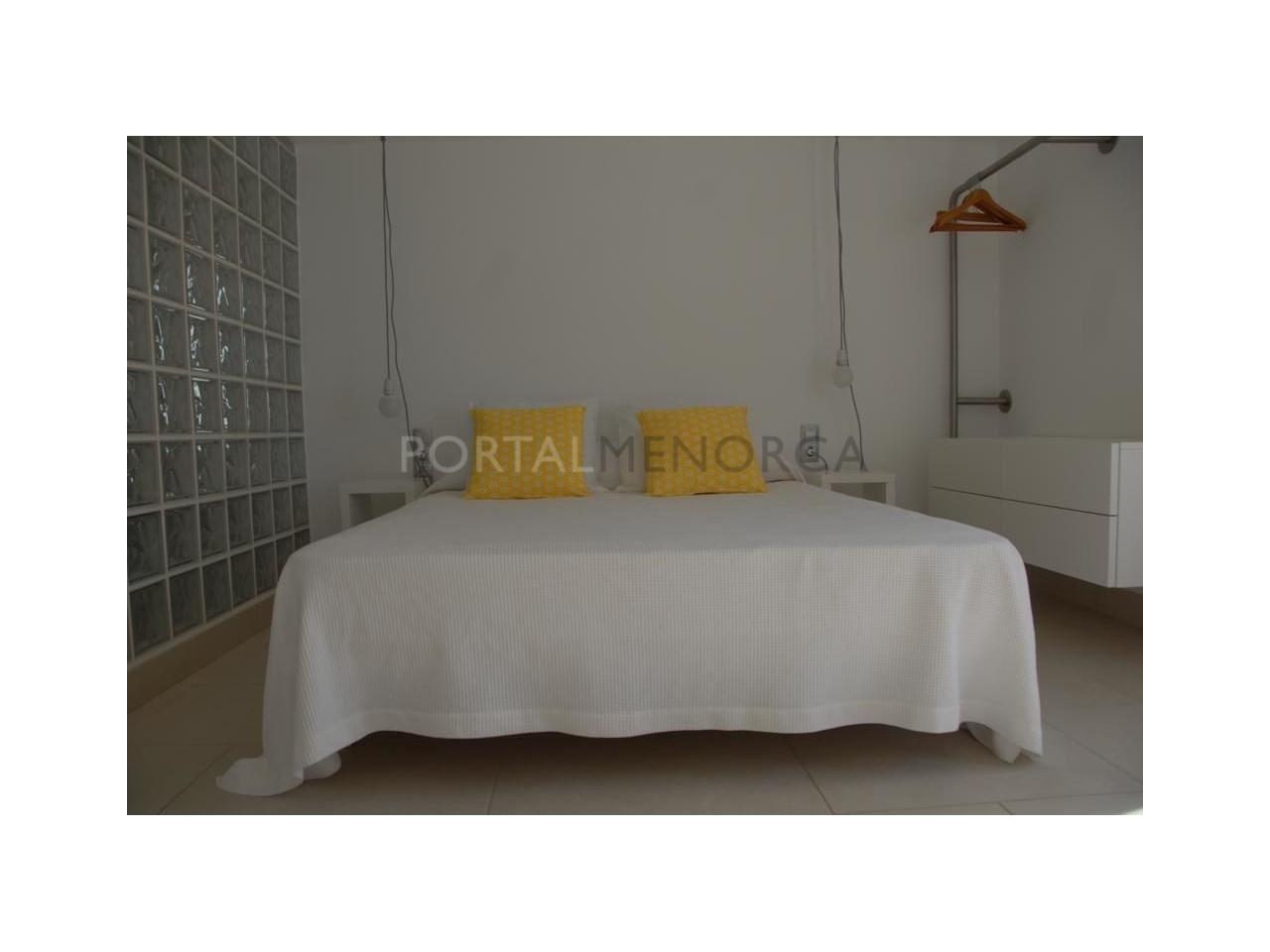 Modern apartment with sea views for sale in Cala Blanca Ciutadella Menorca-Bedroom