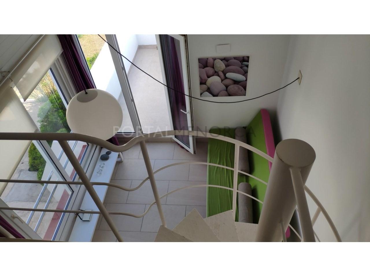 Modern apartment with sea views for sale in Cala Blanca Ciutadella Menorca-Stairs