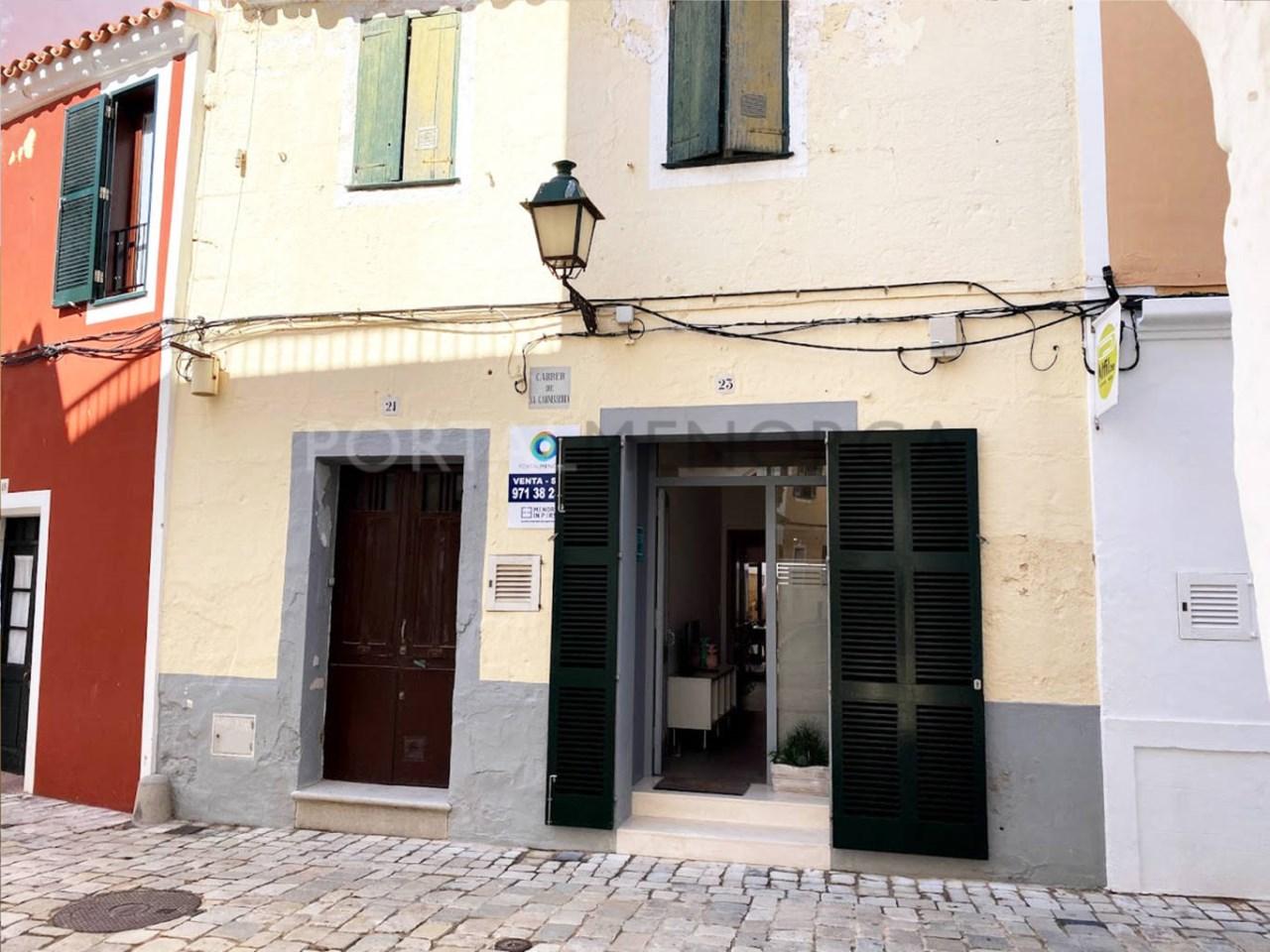 House in the old town Ciutadella_facade