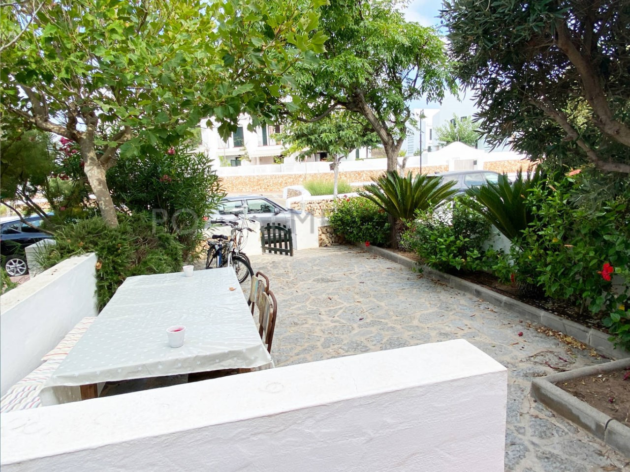 Duplex in Fornells_patio