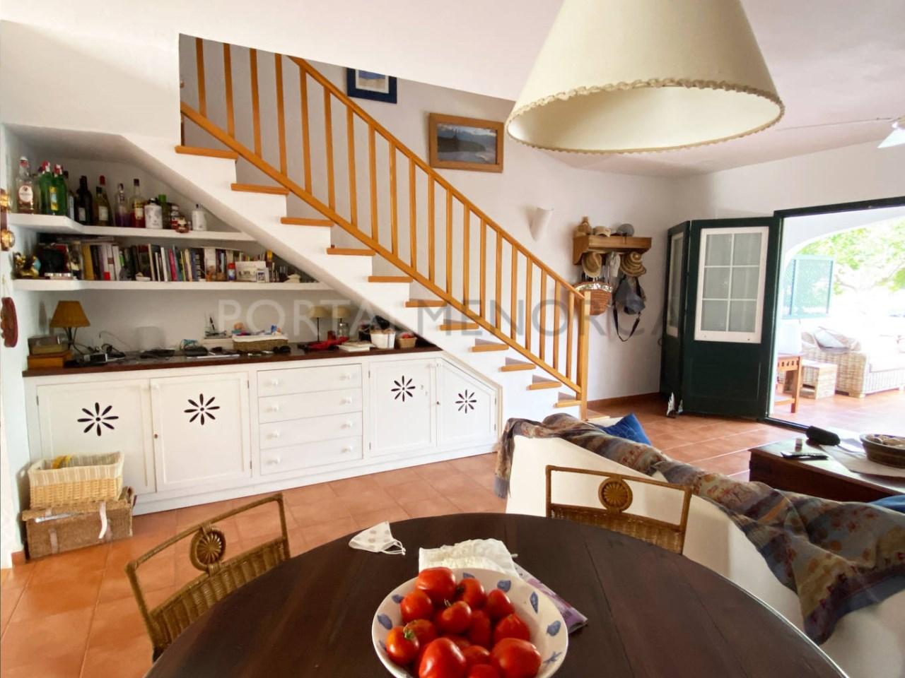 Duplex in Fornells_living room