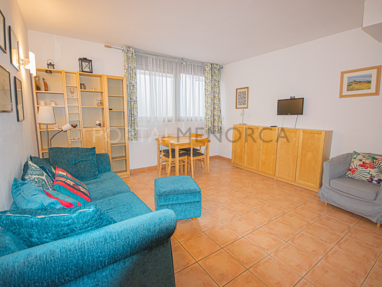 Flat with one bedroom in Es Mercadal with parking, storeroom and pool.