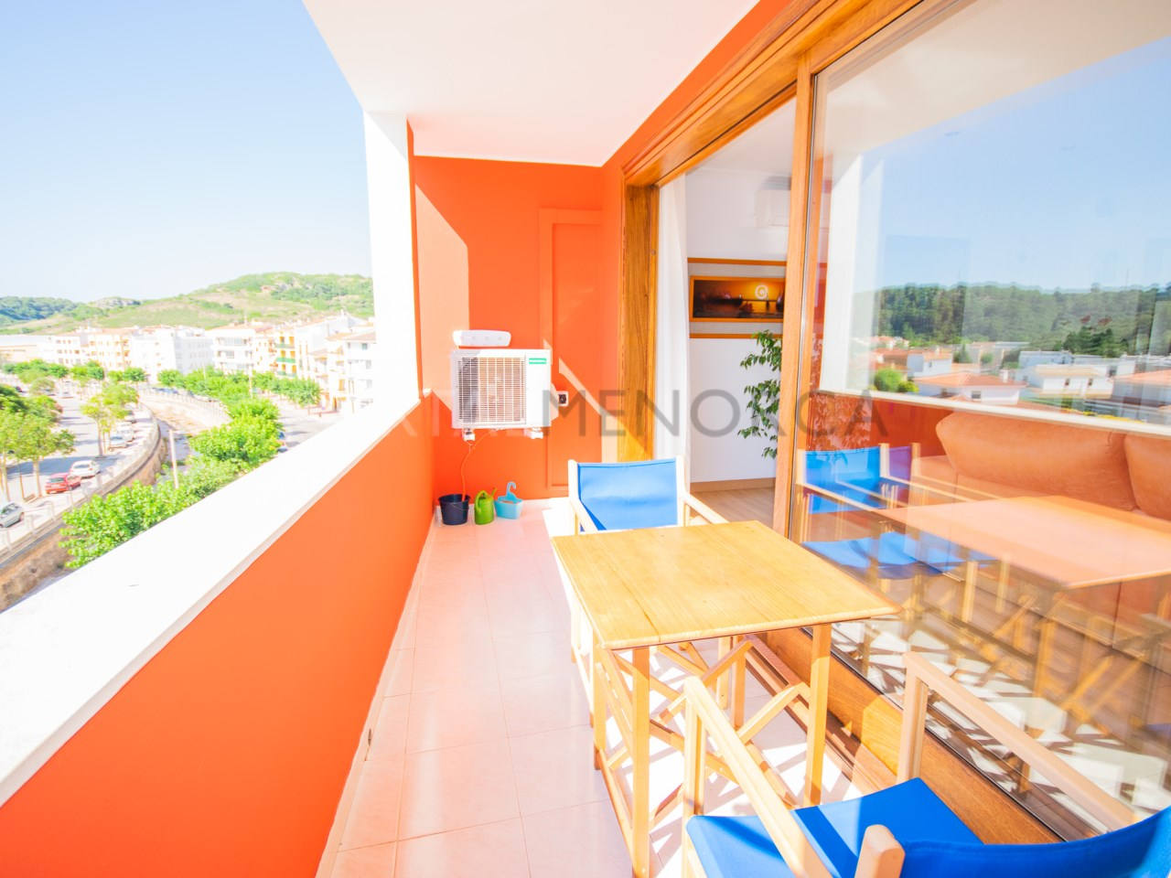 Spacious flat with terrace and lovely views in Ferreries.