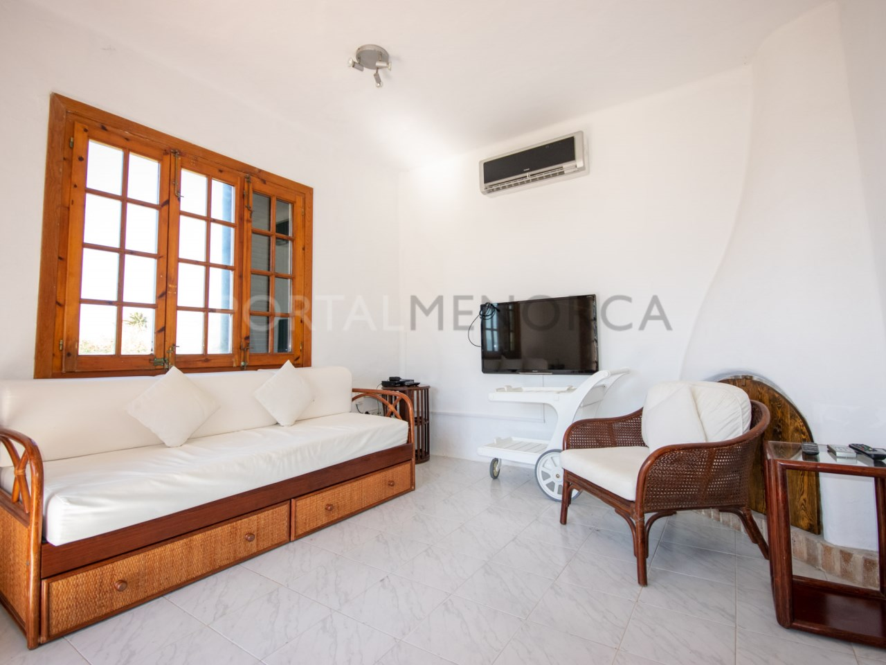 living room from a villa in playas de fornells