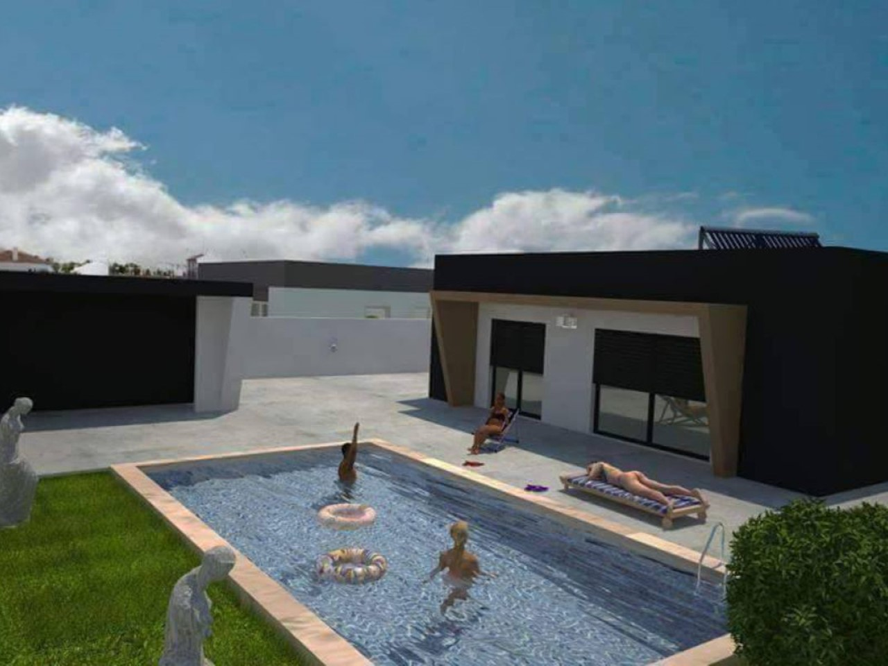 Modern 3 bedroom house, in project, on a 652 m2 plot - Bom Sucesso, Ób