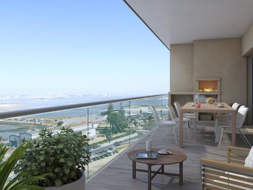 Lägenhet med 4 sovrum (T4), terrass med vy ...