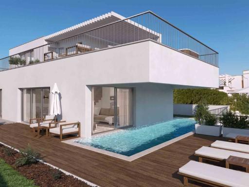 Modernt boende i Ferragudo med egen pool