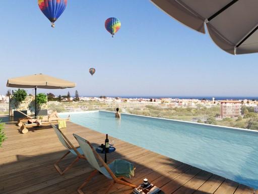 T2 com terraço e piscina