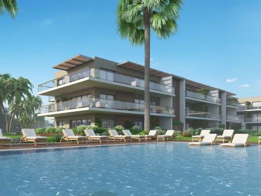 T2 com terraço e jardim privado em resort ...