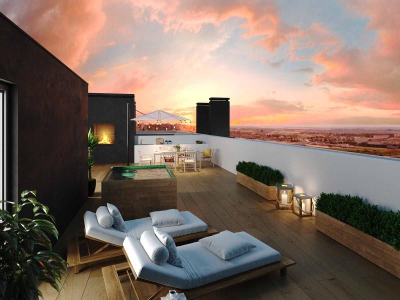 Lux Garden-terraço