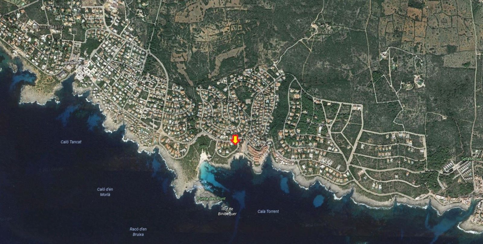 Plot of land with sea view for sale in Binibeca Nou