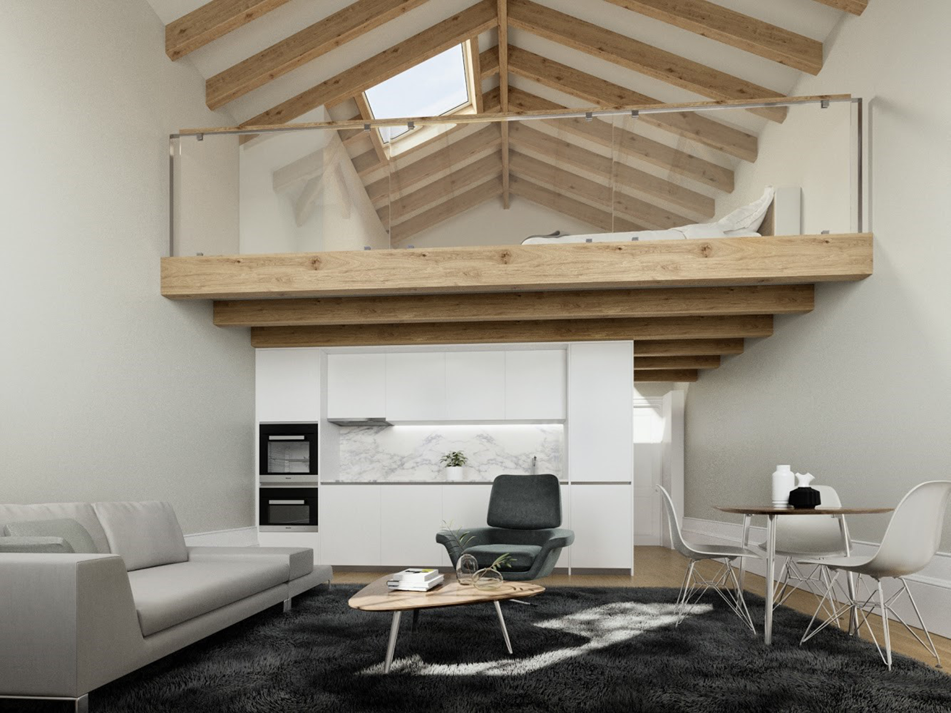 Apartment T0+1 Mezzanine in Cedofeita