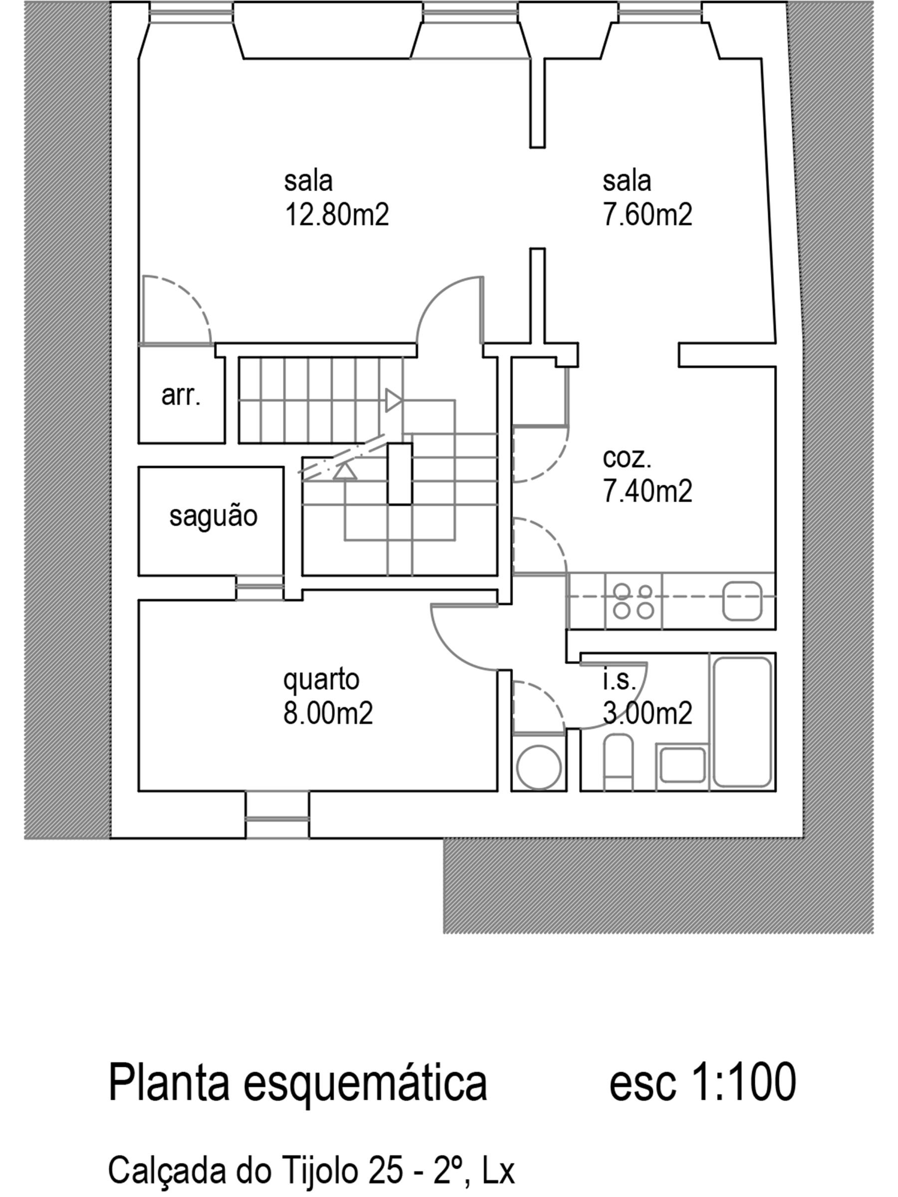 למכירה-דירת 2 חדרים, משופצת, ליסבון